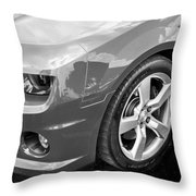 2012 Chevy Camaro Ss Bw Throw Pillow