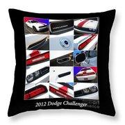 2012 Dodge Challenger-white-1 Throw Pillow