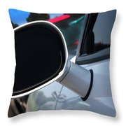 2012 Dodge Challenger White Rear View Mirror - 6023 Throw Pillow