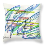 2012 Drawing #9 Throw Pillow