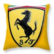 2012 Ferrari 458 Spider Emblem Throw Pillow