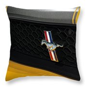 2012 Ford Mustang Boss 302 Throw Pillow