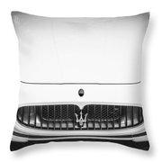 2012 Maserarti Gran Turismo S Bw Throw Pillow