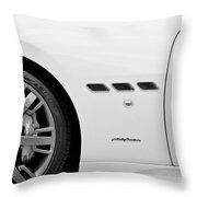 2012 Maserati Gran Turismo S B And W Throw Pillow