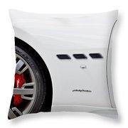 2012 Maserati Gran Turismo S Throw Pillow