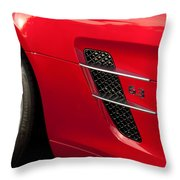 2012 Mercedes-benz Sls Gullwing Wheel Throw Pillow