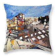 2013 015 Crosswalk Silver Orange And Blue Arlington Virginia Throw Pillow