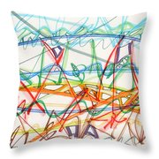 2013 Abstract Drawing #7 Throw Pillow