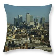 2013 Docklands London Skyline Throw Pillow