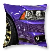 2013 Dodge Charger Headlight Throw Pillow