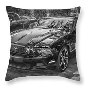 2013 Ford Shelby Mustang Gt 5.0 Convertible Bw  Throw Pillow