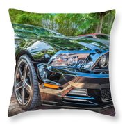 2013 Ford Shelby Mustang Gt 5.0 Convertible Painted   Throw Pillow
