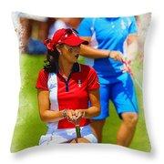 2013 Solheim Cup - Michelle Wie Throw Pillow