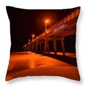 2014 02 06 01 A Okaloosa Island Pier 0195 Throw Pillow