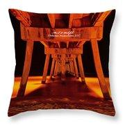 2014 02 06 01 Okalossa Island Pier 0213 Throw Pillow
