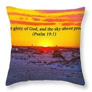 2014 03 12 02 A Psalm 19 1 Throw Pillow