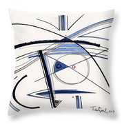 2014 Abstract Drawing #1 Throw Pillow