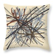 2014 Abstract Drawing #8 Throw Pillow