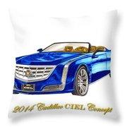 2014 Cadillac Ciel Concept Throw Pillow