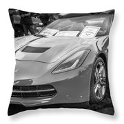 2014 Chevrolet Corvette C7 Bw  Throw Pillow