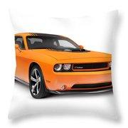 2014 Dodge Challenger Muscle Car Throw Pillow