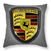 2014 Porsche Cayman S  Logo Throw Pillow