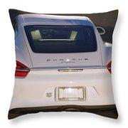 2014 Porsche Cayman White Throw Pillow