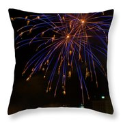 2014 Three Rivers Festival Fireworks Fairmont Wv 1 Throw Pillow