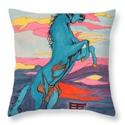 2014 Year Of The Horse Throw Pillow