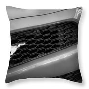 2015 Ford Mustang Prototype Grille Emblem -0092bw Throw Pillow