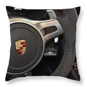 2015 Porche Boxster Gts Wheel Throw Pillow