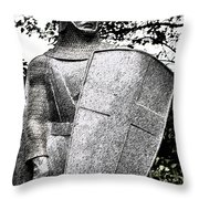 20th Century Gothic Revival Knight Statue Chicago Usa Throw Pillow