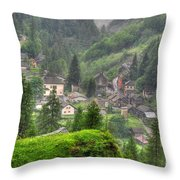 Alpine Village Throw Pillow