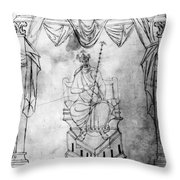 Charlemagne (742-814) Throw Pillow