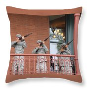 21 Gun Salute Throw Pillow