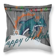 Miami Dolphins Throw Pillow