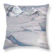 Pack Ice, Antarctica Throw Pillow