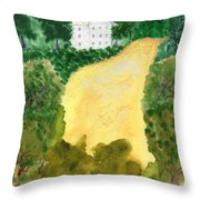 21 Room House On Golden Lake Dream Throw Pillow