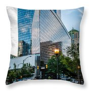 Skyline Of Uptown Charlotte North Carolina Throw Pillow