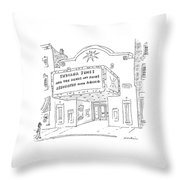 New Yorker May 26th, 2008 Throw Pillow