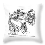 They're Going To Print A Retraction - Throw Pillow