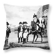 Yorktown: Surrender, 1781 Throw Pillow
