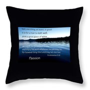21048 Passion 2 Throw Pillow