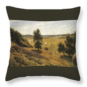 A Tranquil Forest Lake  Throw Pillow