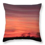 22 Dec 2012 Sunset Three Throw Pillow