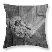 Dor� The Raven, 1882 Throw Pillow