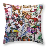 22 Holy Letters Throw Pillow