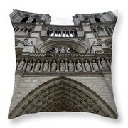 Notre Dame In Paris France Throw Pillow
