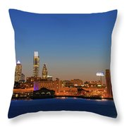 Skyscrapers At The Waterfront Throw Pillow
