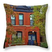22 W Eugenie St Old Town Chicago Throw Pillow by Christine Till